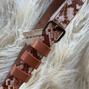 ✨NWT✨Anthropologie Animal Print Leather Belt